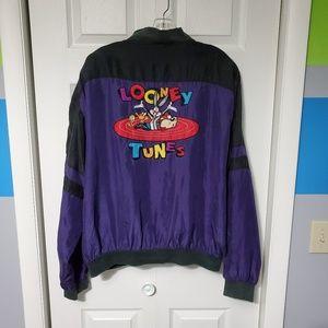 Vintage '93 Looney Tunes Silk Bomber Jacket